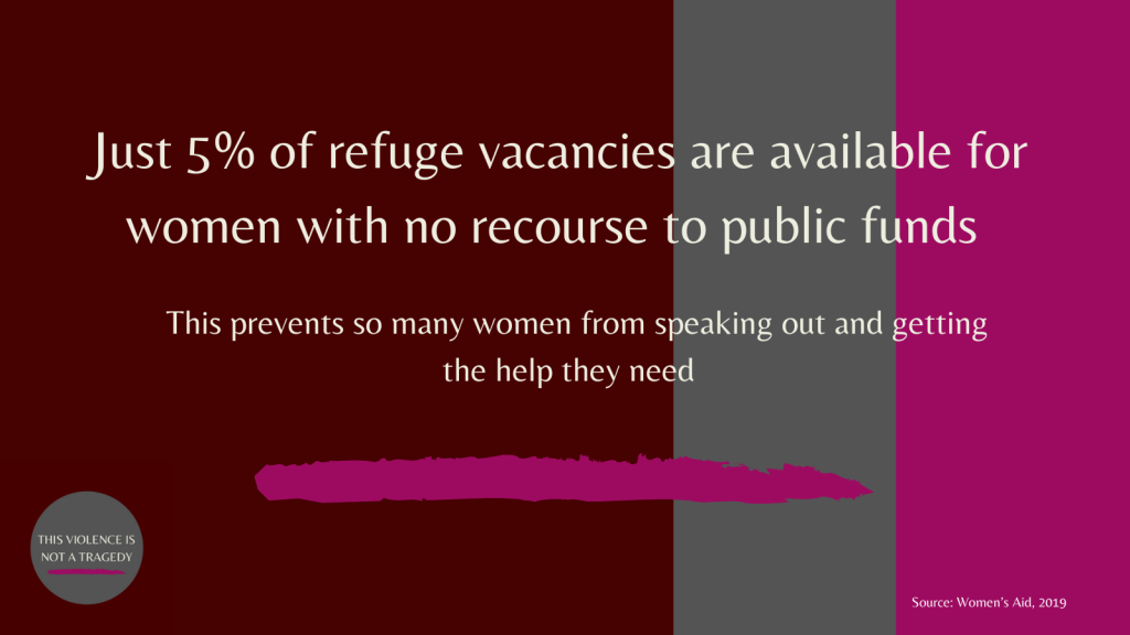 refuge vacancies no recourse to public funds