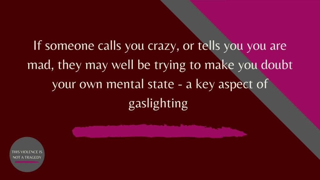 gaslighting crazy