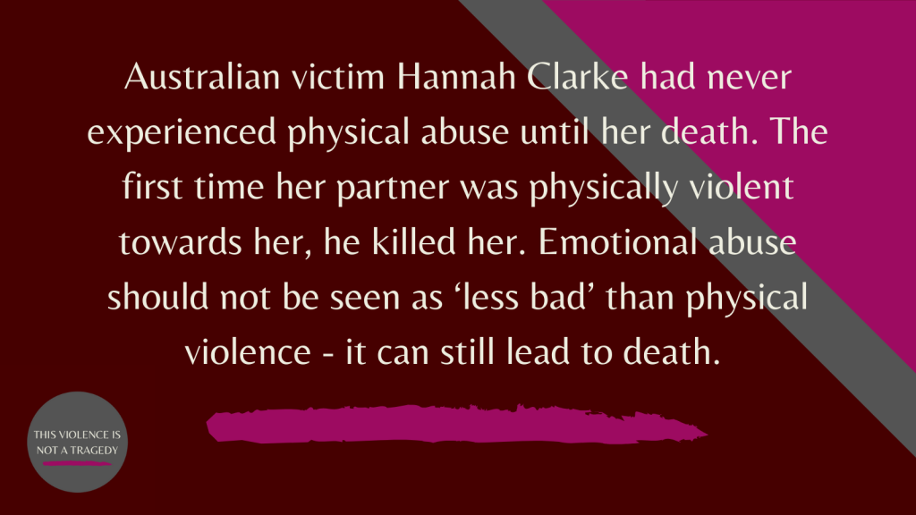 Hannah Clarke emotional abuse
