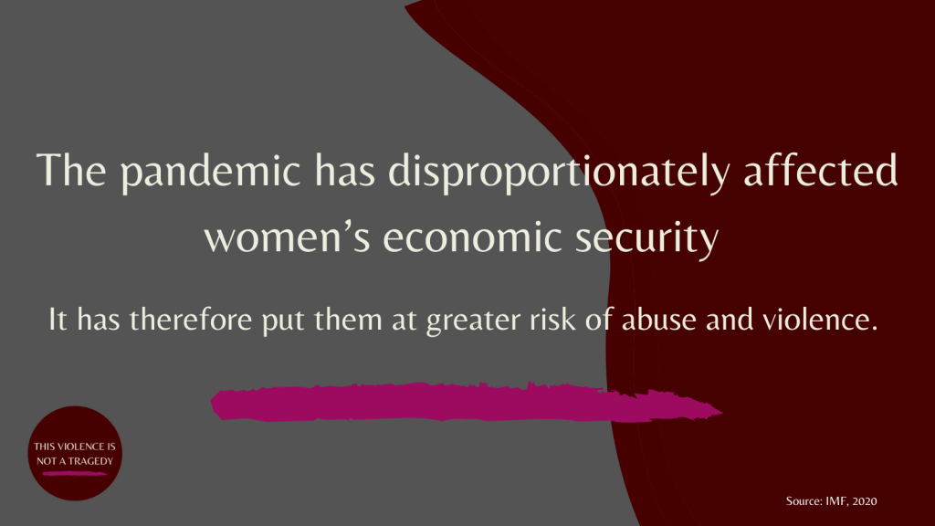 The pandemic has disproportionately affected women's economic security