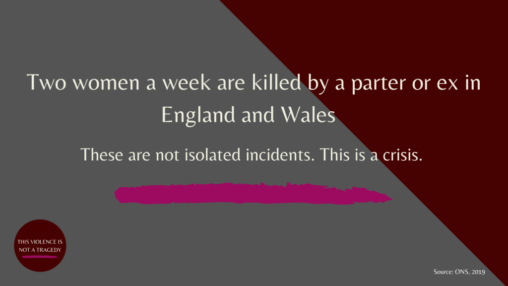 Two women a week are killed by their partner or ex in england and wales