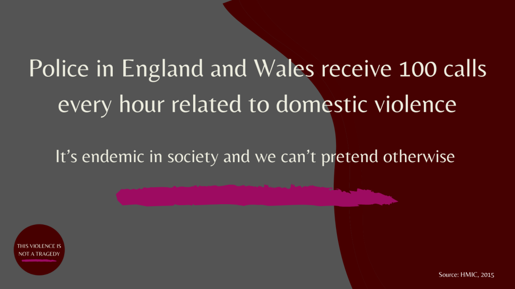 Police in England and Wales receive 100 calls an hour relating to domestic abuse