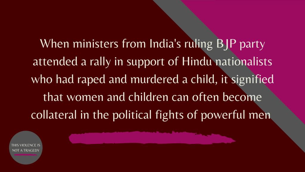 BJP hindu nationalist rally Asifa Bano
