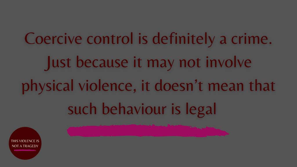 coercive control is a crime