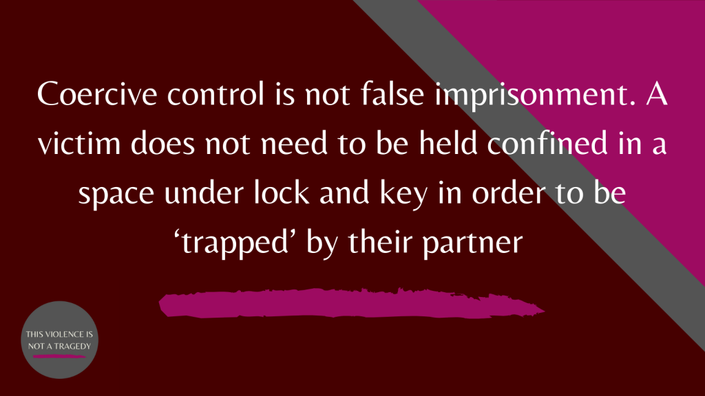 coercive control false imprisonment