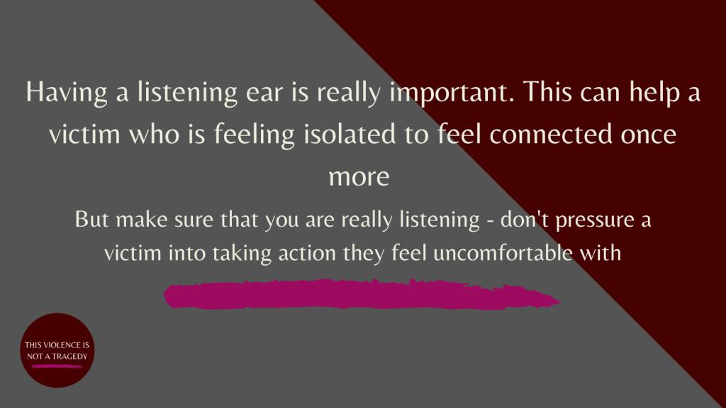 listen to domestic violence victims