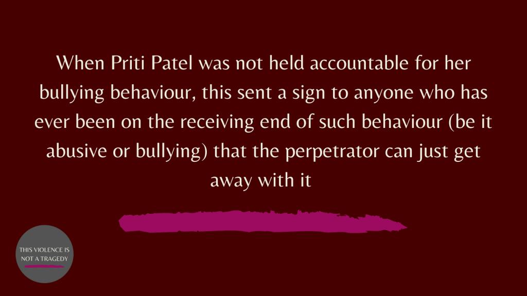Priti Patel bullying